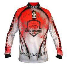Bass Maniacs Fishing Jersey RED Splash Tournament Bass Jersey UV Protection