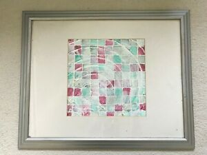 Abstract Art Pastel Professionally framed Abstract Art