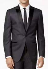 Calvin Klein 7591 Men's Grey Black Peak Lapel Slim-Fit Tuxedo Jacket Sz. 40S