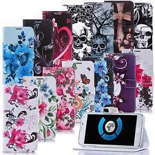 Handy Tasche Für Apple /Huawei LG Flip Cover Case Schutz Hülle Etui Motiv Wallet