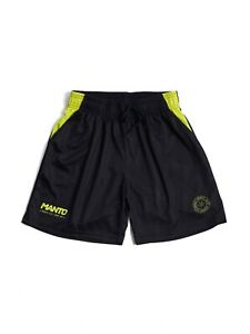Manto Mesh Shorts Alpha Black Yellow No-Gi BJJ MMA Grappling Training Casual Gym