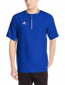 Adidas Climalite Jacket Mens Short Sleeve 1/4 Zip Fielder's Choice Cage Jacket