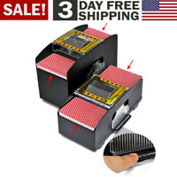 Automatic Electronic Poker Card Shuffler Electric Shuffling Machine w/ 2 Decks🥇