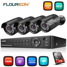 8CH 1080N AHD CCTV DVR 3000TVL Outdoor Camera Home Security System Kits 1TB HDD