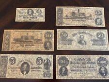 Confederate Currency Parchment - Battle Set