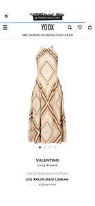 Valentino Dress Silk Size 8-10