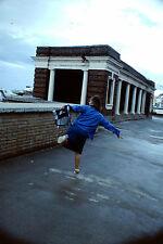Vintage Kodak Kodachrome Slide Negative, Lady Dancing On Street, Blackpool 1990