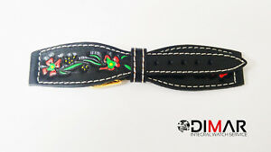 Strap/Band Type Denim Leather Black Painted 18mm MOD.2