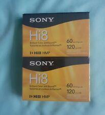 NEW Sony Hi8 HMP Digital8 Tape 60/120min Cassette Camcorder Blank Video - 2 Pack