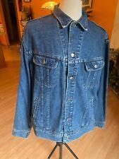 Vintage Lee Western Trucker Riveted Denim Jean Jacket Mens Size XL USA