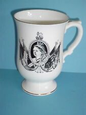 CROWN STAFFORDSHIRE QUEEN VICTORIA DIAMOND JUBILEE COMMEMORATIVE MUG 1897