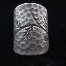 Fine Silver Rings THAI HANDMADE KAREN HILL TRIBE Hammered Dome