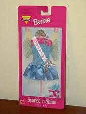 Barbie 1997 Sparkle 'n Shine Fashions MOC #68657 Blue Beauty Pageant Dress