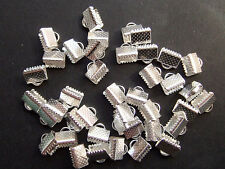 30pz coprinodo terminale 8x8mm nikel free colore argento