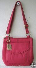 Fossil Modern Cargo Organizer Fuchsia leather crossbody bag SHB4520690 NWT