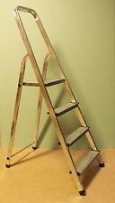 Haushaltsleiter Aluminium Leiter Trittleiter Stehleiter 4 Stufen