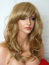 Blonde Brown Medium Real Natural Adult Women Fashion Ladies Full Fringe Wig F8