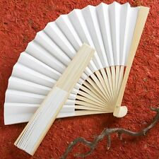 100 Elegant White Fans Wedding Favor Gift Party Reception Delicate Folding