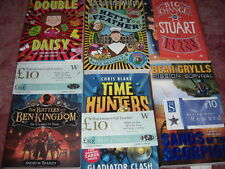 6 books - jacqueline wilson-Hetty Feather , bear grylls,Chris Blake + Kes Gray
