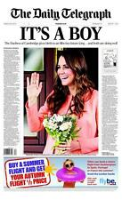 Daily Telegraph KATE MIDDLETON The Birth of Royal Baby Prince George July 2013