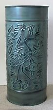 Iron Umbrella Stand Bird Verdigris. Available in 2 different finishes.