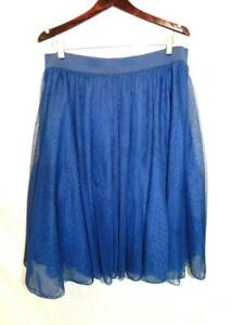 Torrid Size 1 1X Blue Tulle Mesh Skirt Knee Length A Line Party