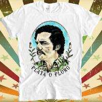 Plata O Plomo Pablo Escobar Narcos Retro Vintage Hipster Unisex T Shirt 1011