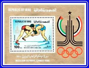 👉  IRAQ = MOSCOW OLYMPIC GAMES 1980  MNH **  SPORTS, WRESTLING