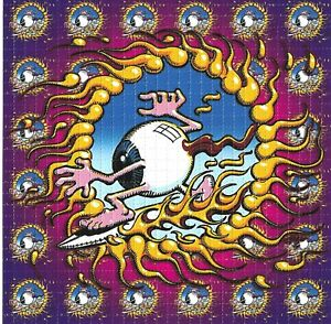 """RICK GRIFFIN - """"SURFING EYEBALL"""" - BICYCLE DAY 2021 - BLOTTER ACID PRINT -"""