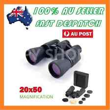 Portable 20x50 Magnification Binoculars Zoom Folding Telescope Coated Optics
