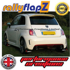 rallyflapZ FIAT 500 ABARTH (2008+) Black 4mm PVC Mud Flaps Logo White & Red