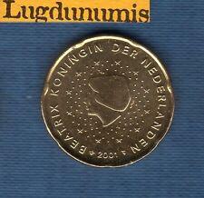 Pays Bas 2001- 20 centimes d'Euro - Pièce neuve de rouleau - Netherlands