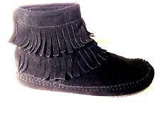 SoftMoc DebraII HI black suede back zip moc size 10 US.