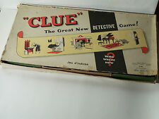 Clue Board Game - Vintage - Early Canadian Version - Parker Brothers