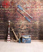 Sailor Red Brick Wall Baby Sfondo Fondale Vinile Foto di scena 5X7FT 150X220CM