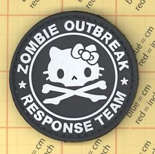 PVC Black  HELLO KITTY Zombie OUTBREAK PATCH Military Tactical Army Morale 25