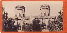 Pegli Villa Pallavicini Gênes Genova Italie Italia Stereo Albumine ca 1880