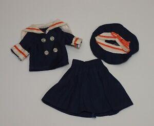 Vintage Penny Brite ANCHORS AWAY Hong Kong Clone Sailor Suit * Skirt Top & Hat