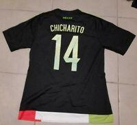 Men´s 2015 Adidas Mexico Sz M Chicharito #14 Black Soccer Jersey Medium green