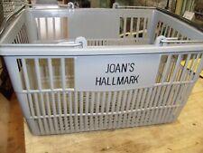 Rare Hallmark Card Store Shopping Basket Plastic Retail Merchandise w/ Handles