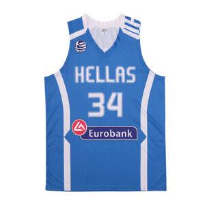 Medium Giannis Antetokounmpo Team Greece Hellas Basketball Jersey Men Stitched