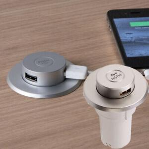 IP67 Desktop USB Charger Mains 240V Kitchen Office Recessed Pull Pop Up Docking