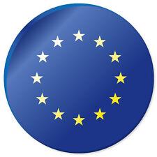 """EUROPEAN UNION Flag car bumper sticker decal 4"""" x 4"""""""