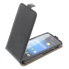 Bolsa para Acer Liquid Z200 Funda Protectora Teléfono Móvil con Tapa Negra