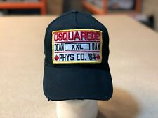 Dsquared Distressed XXL BLACK  2018 NEW  Baseball Cap Dsquared2 Hat