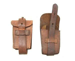 Genuine Argentina Military Leather Ammo Pouch Argentinian Army 1909 Mauser Pouch