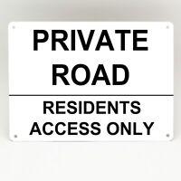 PRIVATE DRIVEWAY PARKING Metal Sign Personalised Simple Custom Rigid White
