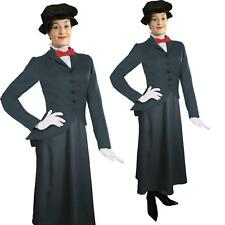 Ladies Mary Poppins Victorian Nanny Fancy Dress Costume World Book Week Outfit