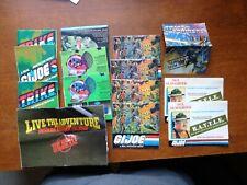 Lot of 14, GI Joe Booklet Pamphlet Brochure Lot w/ Sgt Slaughter + 1 Transformer