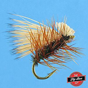 Elk Hair Caddis PEACOCK Premium Fishing Flies - One Dozen - Sizes Available***